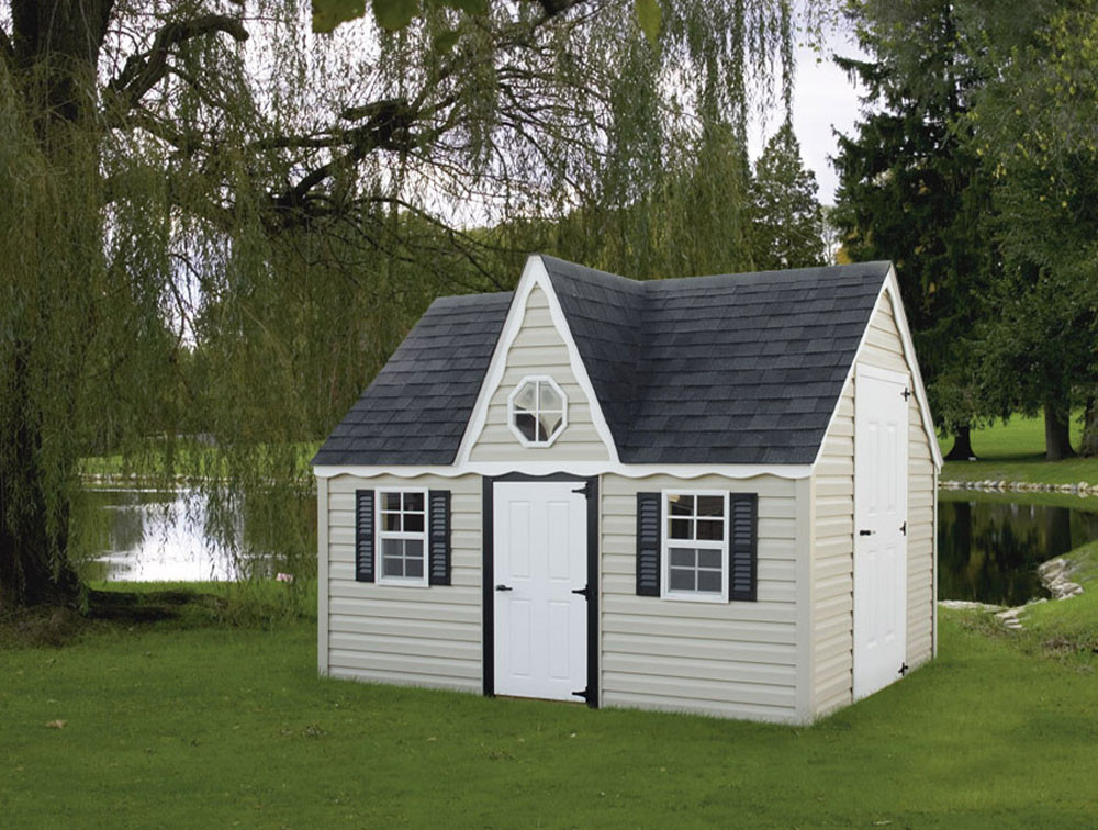 Bayhorse gazebos barns 6 39 x 10 39 victorian playhouse for Victorian play house