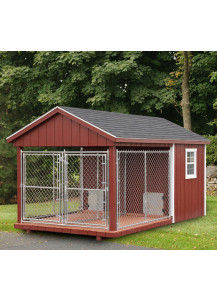 Double Kennel - A-Frame 8' x 14' Duratemp - Custom Order