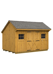 Pine Board & Batten Manor Shed - Quaker Roof  10' by 16' - Custom Order