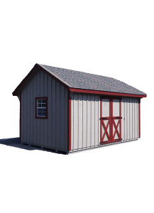 Pine Board & Batten Cape Shed - 7/12 A-Frame Roof  12' by 14' - Custom Order