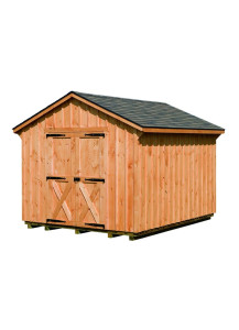 Pine Board & Batten Cottage Shed - 5/12 A-Frame Roof  10' by 16' - Custom Order