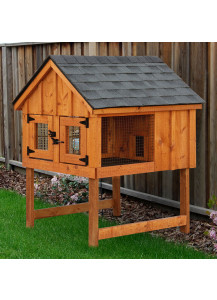 Rabbit Hutch - Board and Batten A-Frame Double - Custom Order