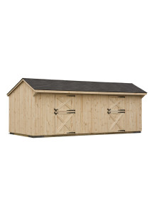 Pine Board & Batten Shed Row Barn 10' by 24' - Custom Order