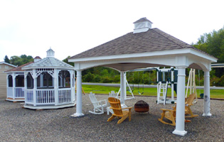 Gazebos at our Red Hook, NY location