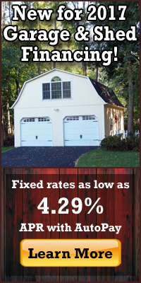 Garage & Shed Financing