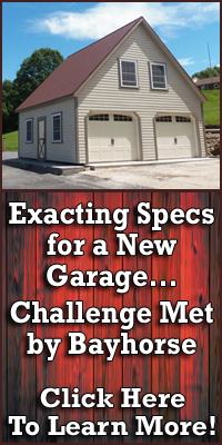 Exacting Specs for a New Garage – Challenge Met by Bayhorse