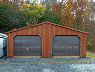 20' x 24' Board & Batten Garage