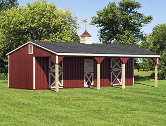 12' x 24' Lean-To Horse Barn