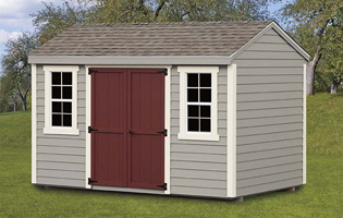 Painted Clapboard Shed