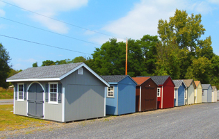 Sheds at our Red Hook, NY location