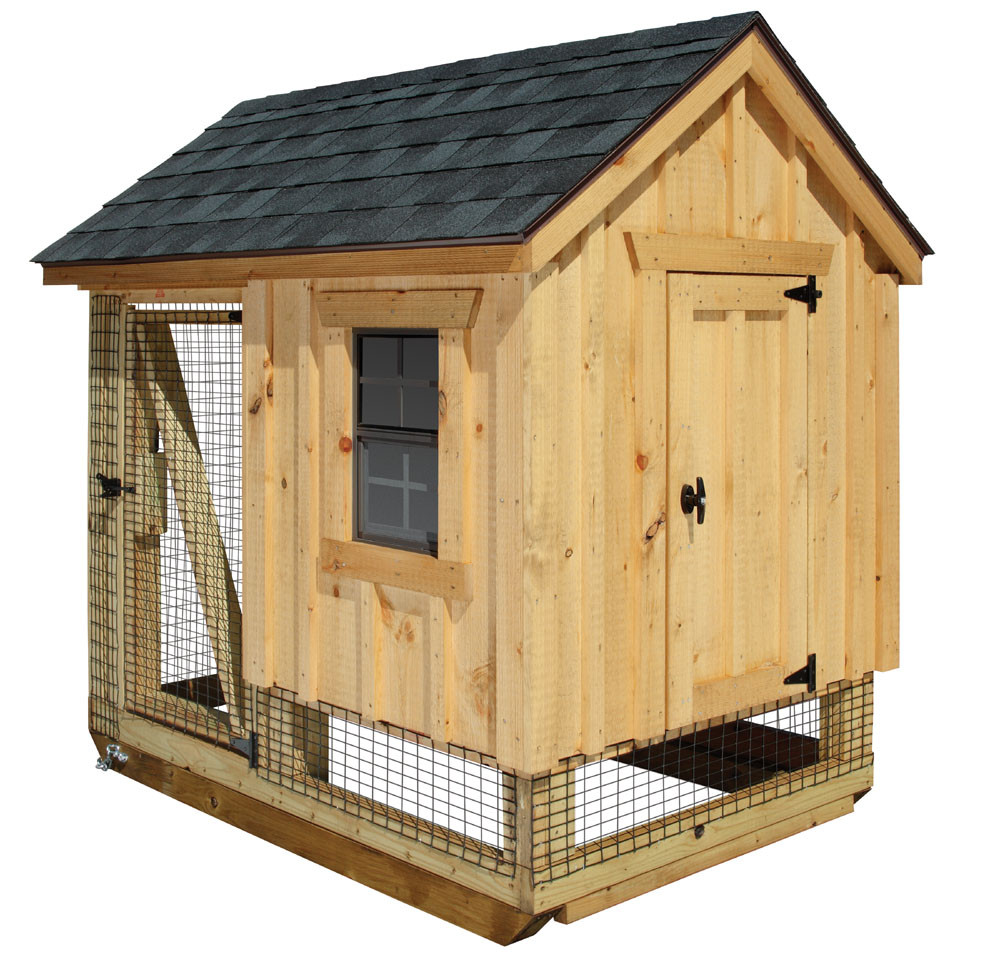 Bayhorse gazebos barns chicken coop a frame for Chicken coop size for 6 chickens