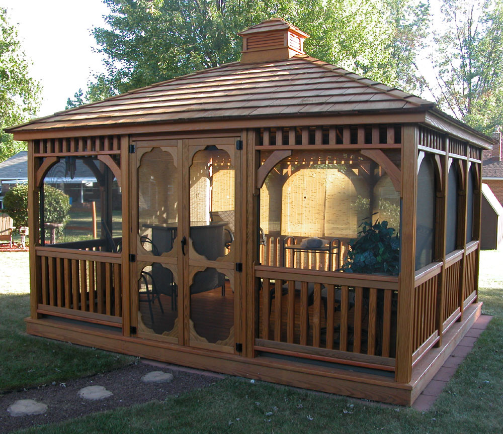 Bayhorse Gazebos Amp Barns Rectangle Wood Gazebo 12 X
