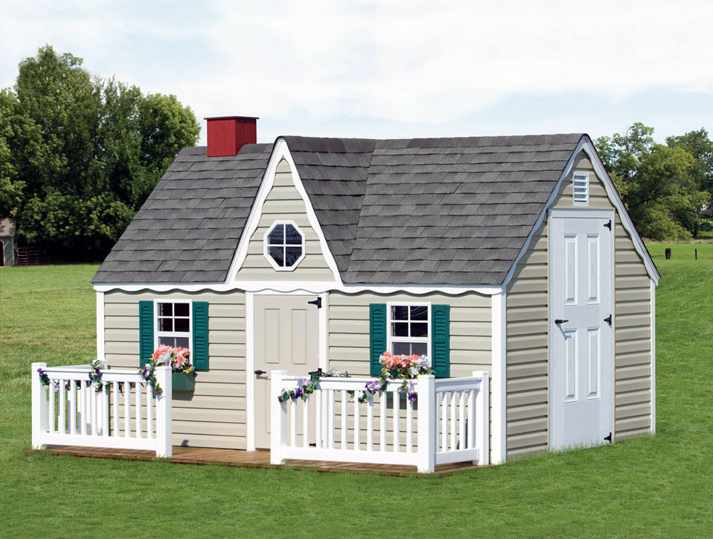 Bayhorse gazebos barns 8 39 x 8 39 victorian playhouse for Victorian play house