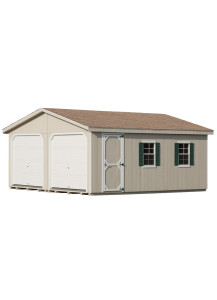Duratemp A-Frame One-Story - Two-Car Garage 24' x 24' - Custom Order