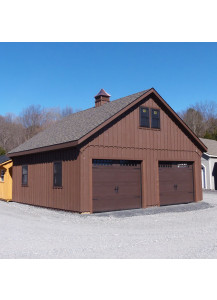 Pine Board & Batten Two Story - Two Car Garage 24' by 36' - Custom Order