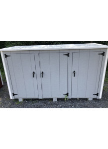 Large Three-Can Trash Shed