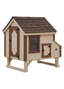 Chicken Coop - A-Frame 4' x 4' Duratemp - Custom Order