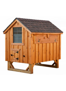 Chicken Coop - A-Frame 4' x 6' Board and Batten - Custom Order