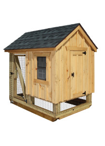 Chicken Coop - A-Frame Combination 4' x 6' Board and Batten - Custom Order