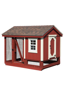 Chicken Coop Combination A-Frame 5' x 7' Duratermp Custom Order