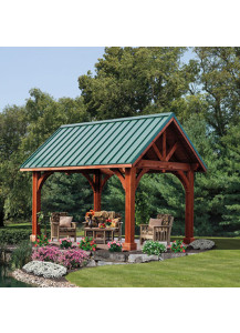 Alpine Wood Pavilion - 14' x 16'  - Custom Order