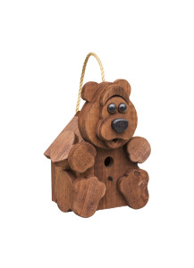 Amish-Made Bear Birdhouse