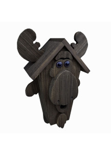 Amish-Made Moose Birdhouse