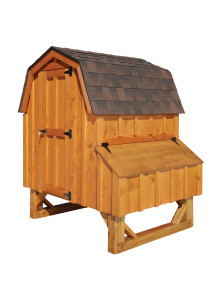 Chicken Coop - Dutch 4' x 4' Board and Batten - Custom Order