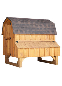 Chicken Coop - Dutch 4' x 6' Board and Batten - Custom Order