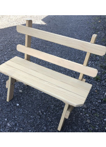"Finch 28"" Extra-Wide Wood Bench with Back"