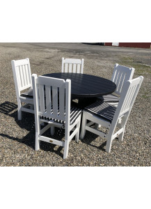 "Finch Poly Keystone 48"" Round Table & 5 Chairs"