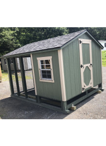 8' x 10' A-Frame Combination Chicken Coop