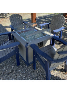 Finch SeaAira Fire Pit and Four Great Bay Chairs - G11PIT