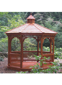 Octagon Wood Gazebo - 12' Colonial Style - Custom Order