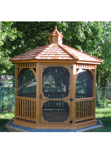 Octagon Wood Gazebo - 12' Dutch Style - Custom Order
