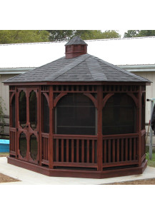 Oval Wood Gazebo - 10' x 14' Dutch Style - Custom Order