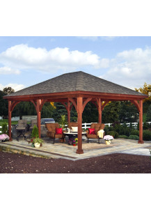 Traditional Wood Pavilion - 14' x 16'  - Custom Order