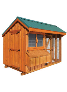 Chicken Coop - Combination 6' x 10' Board and Batten - Custom Order