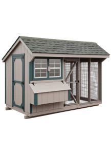 Chicken Coop - Combination 6' x 10' Duratemp - Custom Order