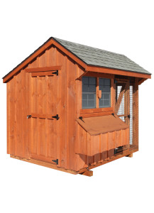 Chicken Coop - Combination 6' x 8' Board and Batten - Custom Order