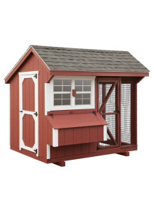 Chicken Coop - Combination 6' x 8' Duratemp - Custom Order