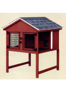 Rabbit Hutch - Duratemp A-Frame Double - Custom Order