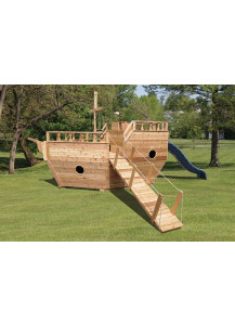 Small Boat Play Set with 10' Slide - Custom Order