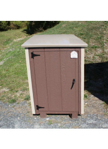 Regular Size One-Can Trash Can Shed with PVC Lid - Custom Order