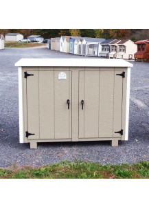 Large Size Two-Can Trash Can Shed with PVC Lid - Custom Order