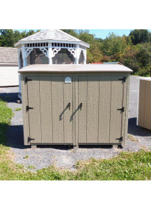 Jumbo Bin Trash Can Shed with PVC Lid - Custom Order