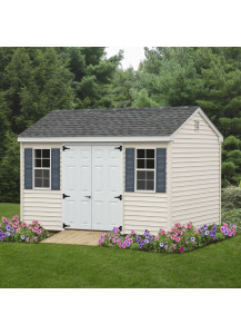 7' Cottage Shed 12' x 16' Vinyl - Custom Order
