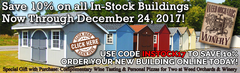 2017 Fall In-Stock Buildings Sale