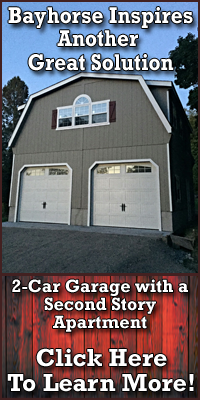2-Car Garage with a Second Story Apartment