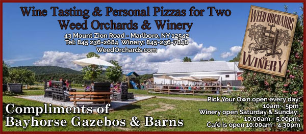 Complimentary Wine Tasting & Personal Pizzas for Two at Weed Orchards & Winery in Marlboro, NY